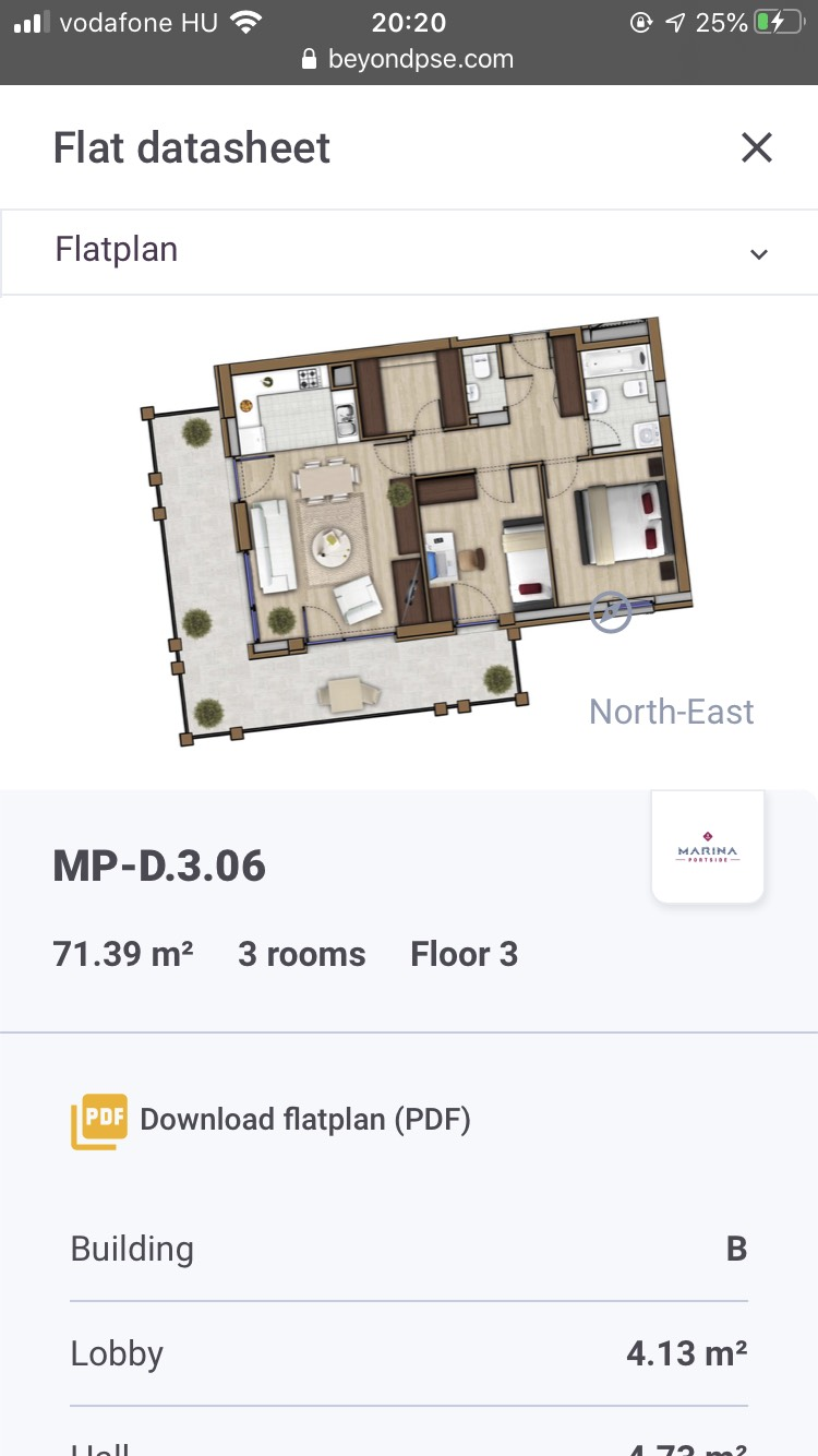 Property Sales Engine on Iphone SE 2020